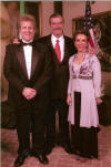 John Sawoski with Vicente Fox and his wife (after giving a performance for him with three tenors, 2 Mexican and 1 American).