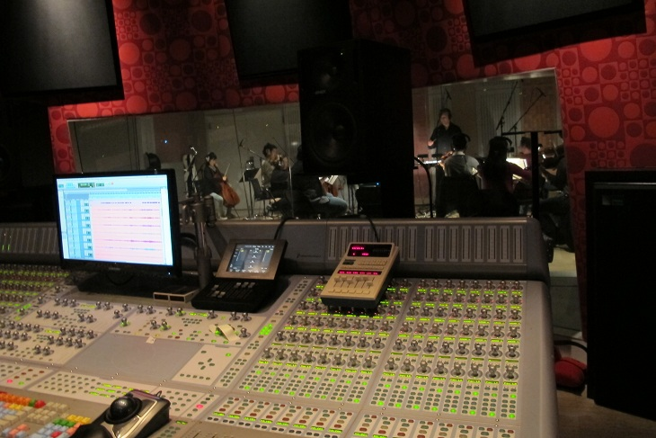 Conducting a session at Old Firehouse Studios Pasadena